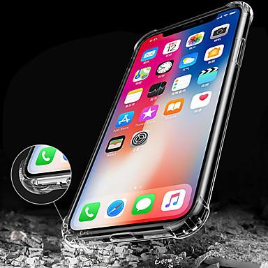 Недорогие Кейсы для iPhone 5с-Кейс для Назначение Apple iPhone X / iPhone 8 Pluss / iPhone 8 Защита от удара / Прозрачный Кейс на заднюю панель Однотонный Мягкий ТПУ