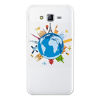 رخيصةأون حافظات / جرابات هواتف جالكسي J-غطاء من أجل Samsung Galaxy J7 (2017) / J7 (2016) / J7 نموذج غطاء خلفي كارتون / مع إطلالة على المدينة ناعم TPU