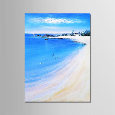 povoljno Wall Art-Hang oslikana uljanim bojama Ručno oslikana - Pejzaž Moderna Bez unutrašnje Frame / Valjani platno