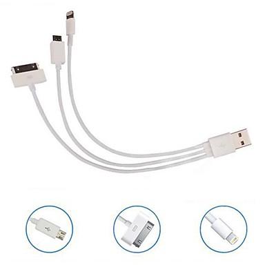 Недорогие Кейсы для Huawei других серий-Kinston 3 в 1 ретрассируемое USB-кабель для Nokia / iPhone 3gs/4/4s/ipad 2/3/samsung/htc/sony/lg мобильный