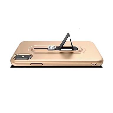 voordelige iPhone X hoesjes-hoesje Voor Apple iPhone X / iPhone 8 Plus / iPhone 8 Ringhouder Achterkant Effen Zacht TPU