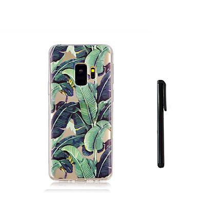 Недорогие Чехлы и кейсы для Galaxy S-Кейс для Назначение SSamsung Galaxy S9 / S9 Plus / S8 Plus Полупрозрачный Кейс на заднюю панель дерево Мягкий ТПУ