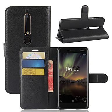 povoljno Maske za mobitele-Θήκη Za Nokia Nokia 9 / Nokia 8 / Nokia 7 Novčanik / Utor za kartice / Zaokret Korice Jednobojni Tvrdo PU koža / Nokia 6