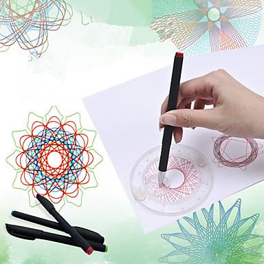 olcso rajz Toys-Játék rajzolása Spirograph SUV Klasszikus téma Festmény Szülő-gyermek interakció Puha műanyag Uniszex Játékok Ajándék 1 pcs