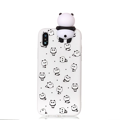 cheap iPhone Cases-Case For Apple iPhone X / iPhone 8 Plus / iPhone 8 Pattern / DIY Back Cover Cartoon / Panda Soft TPU