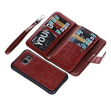 povoljno Samsung oprema-Θήκη Za Samsung Galaxy S9 / S9 Plus / S8 Plus Novčanik / Utor za kartice / Zaokret Korice Jednobojni Tvrdo prava koža