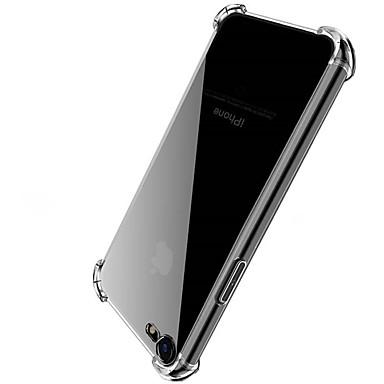 Недорогие Кейсы для iPhone 6 Plus-Кейс для Назначение Apple iPhone X / iPhone 8 Pluss / iPhone 8 Защита от удара / Прозрачный Кейс на заднюю панель Однотонный Твердый Акрил