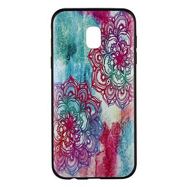 voordelige Galaxy J-serie hoesjes / covers-hoesje Voor Samsung Galaxy J7 (2017) / J5 (2017) / J5 Patroon Achterkant Bloem / Kleurgradatie Zacht TPU