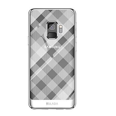 Недорогие Чехлы и кейсы для Galaxy S-Кейс для Назначение SSamsung Galaxy S9 / S9 Plus Покрытие Кейс на заднюю панель Геометрический рисунок Мягкий ТПУ