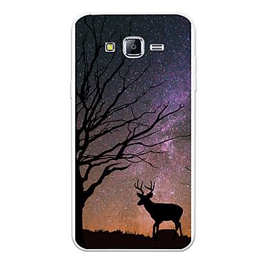 رخيصةأون حافظات / جرابات هواتف جالكسي J-غطاء من أجل Samsung Galaxy J7 (2017) / J7 (2016) / J7 نموذج غطاء خلفي منظر / حيوان / كارتون ناعم TPU