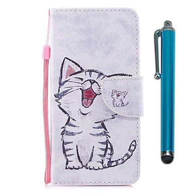 غطاء من أجل Samsung Galaxy S9 / S9 Plus / S8 Plus محفظة / حامل البطاقات / مع حامل غطاء كامل للجسم قطة قاسي جلد PU