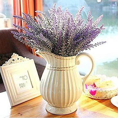 زهور اصطناعية 1 فرع ستايل حديث أزرق فاتح أزهار الطاولة