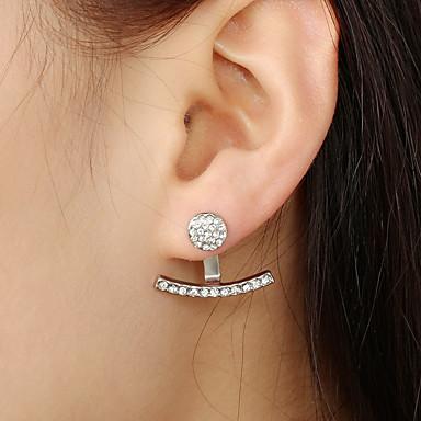 Women S Stud Earrings Front Back Ear Jacket Gold Silver For Party Gift 6622407 2018 1 99