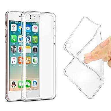 Θήκη Za Apple iPhone X / iPhone 8 Plus / iPhone 8 Ultra tanko / Prozirno tijelo Stražnja maska Jednobojni Mekano TPU
