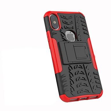 Недорогие Кейсы для iPhone 7-Кейс для Назначение Apple iPhone XS / iPhone XR / iPhone XS Max Защита от удара / со стендом / броня Кейс на заднюю панель Плитка / броня Твердый ПК
