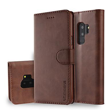 voordelige Galaxy S-serie hoesjes / covers-hoesje Voor Samsung Galaxy S9 / S9 Plus / S8 Plus Portemonnee / Kaarthouder / met standaard Volledig hoesje Effen Hard PU-nahka