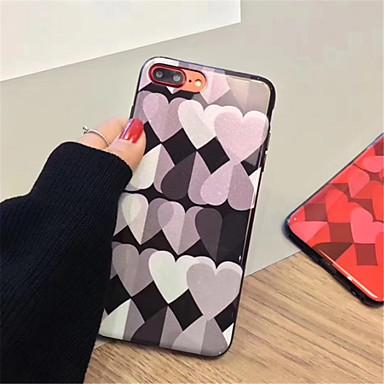 Недорогие Кейсы для iPhone 6 Plus-Кейс для Назначение Apple iPhone X / iPhone 8 Pluss / iPhone 8 С узором Кейс на заднюю панель С сердцем Мягкий ТПУ