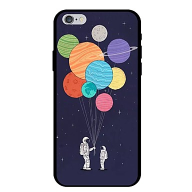 voordelige iPhone 6 hoesjes-hoesje Voor Apple iPhone X / iPhone 8 Plus / iPhone 8 Patroon Achterkant Cartoon / Balloon Zacht TPU