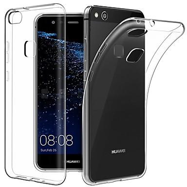 غطاء من أجل Huawei P10 Plus / P10 Lite / P10 نحيف جداً / الجسم شفافة غطاء خلفي لون سادة ناعم TPU
