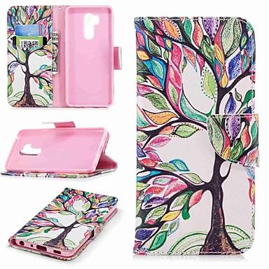 رخيصةأون LG أغطية / كفرات-غطاء من أجل LG LG V30 / LG V20 / LG Q6 محفظة / حامل البطاقات / مع حامل غطاء كامل للجسم شجرة قاسي جلد PU / LG G6