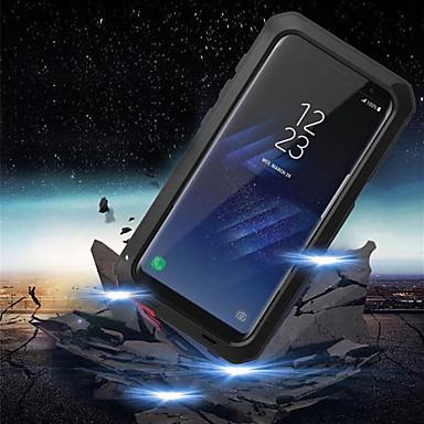 Недорогие Чехлы и кейсы для Galaxy S-Кейс для Назначение SSamsung Galaxy S9 / S9 Plus / S8 Plus Защита от удара / Защита от влаги Чехол броня Твердый Металл