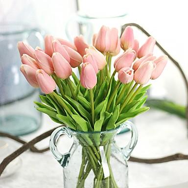 زهور اصطناعية 10 فرع زهري حفلة أزهار التولب الزهور الخالدة أزهار الطاولة