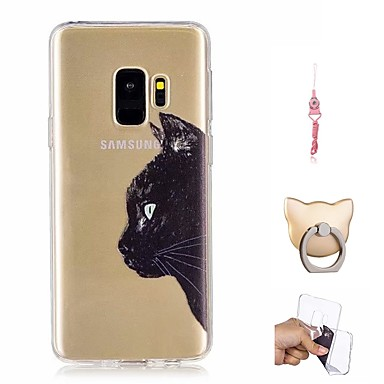 voordelige Galaxy S-serie hoesjes / covers-hoesje Voor Samsung Galaxy S9 / S9 Plus Patroon Achterkant Kat Zacht TPU