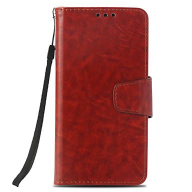 Недорогие Чехлы и кейсы для LG-Кейс для Назначение LG LG X Style / LG V30 / LG V20 Кошелек / Бумажник для карт / со стендом Чехол Однотонный Твердый Кожа PU