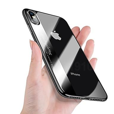 voordelige iPhone-hoesjes-hoesje Voor Apple iPhone X / iPhone 8 Plus / iPhone 8 Beplating / Ultradun / Doorzichtig Achterkant Effen Zacht TPU