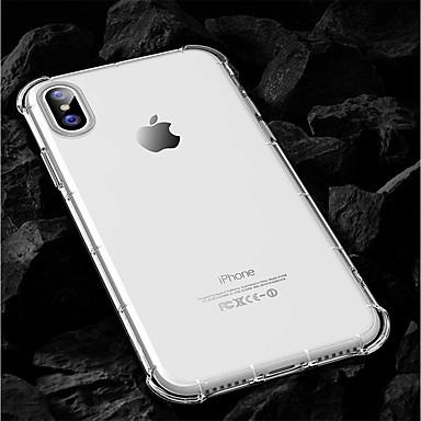 Недорогие Кейсы для iPhone X-Кейс для Назначение Apple iPhone X / iPhone 8 Pluss / iPhone 8 Защита от удара Кейс на заднюю панель Однотонный Мягкий ТПУ