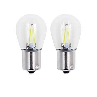 Недорогие Фары для мотоциклов-2pcs 1157 / 1156 Автомобиль / Мотоцикл Лампы 2W COB 150lm 2 Светодиодная лампа Лампа поворотного сигнала For Универсальный Дженерал Моторс
