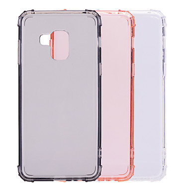 رخيصةأون حافظات / جرابات هواتف جالكسي A-غطاء من أجل Samsung Galaxy A8 2018 / A8+ 2018 ضد الصدمات / شبه شفّاف غطاء خلفي لون سادة ناعم TPU