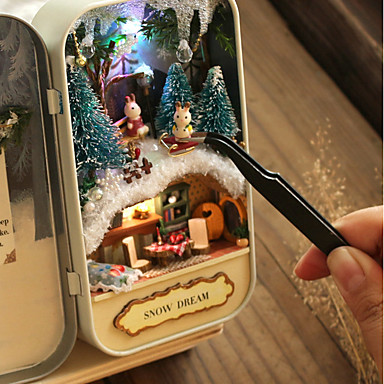 olcso Babaház és kiegészítők-Babaház Kreatív DIY Karácsony Bútor Fa Romantikus 1 pcs Összes Játékok Ajándék