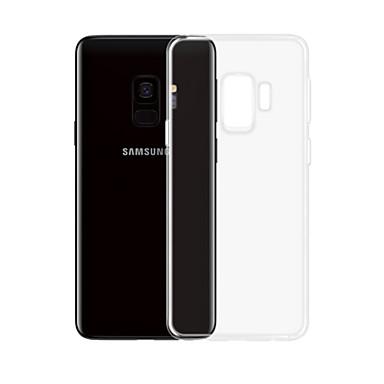 Недорогие Чехлы и кейсы для Galaxy S-Кейс для Назначение SSamsung Galaxy S9 Plus Прозрачный Кейс на заднюю панель Однотонный Мягкий ТПУ