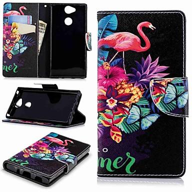 povoljno Maske za mobitele-Θήκη Za Sony Xperia XA2 / Xperia L2 Novčanik / Utor za kartice / sa stalkom Korice Flamingo Tvrdo PU koža
