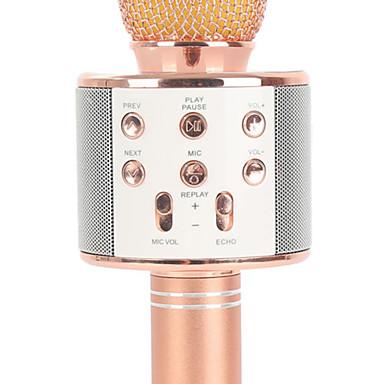 olcso Mikrofonok-WS858 Vezeték nélküli / Bluetooth Mikrofon Other Dinamikus mikrofon Kézi mikrofon / Divat Kompatibilitás Rúd / Karaoke mikrofon