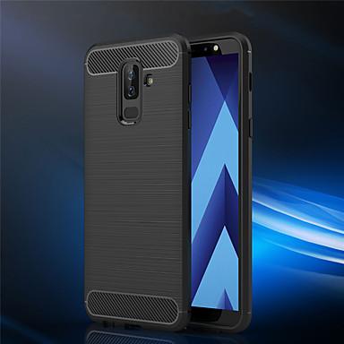 غطاء من أجل Samsung Galaxy A6 (2018) / A6+ (2018) / A3 (2017) مثلج غطاء خلفي لون سادة ناعم TPU