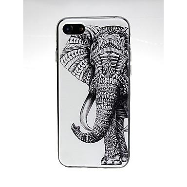 voordelige iPhone 7 hoesjes-hoesje Voor Apple iPhone X / iPhone 8 Plus / iPhone 8 Ultradun / Patroon / Schattig Achterkant dier / Olifant Zacht TPU
