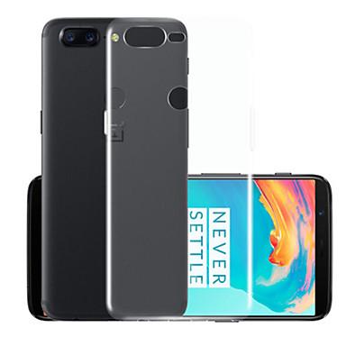 رخيصةأون حالات / أغطية ون بلس-غطاء من أجل OnePlus One Plus 5 شفاف غطاء خلفي لون سادة ناعم TPU