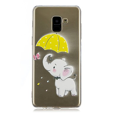 رخيصةأون حافظات / جرابات هواتف جالكسي A-غطاء من أجل Samsung Galaxy A5(2018) / Galaxy A7(2018) / A5 (2017) شفاف / نموذج غطاء خلفي فيل ناعم TPU