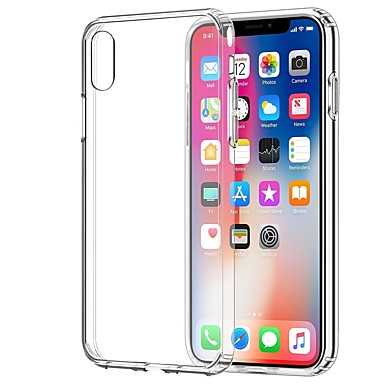 preiswerte iPhone Hüllen-Hülle Für Apple iPhone X / iPhone 8 Plus / iPhone 8 Transparent Rückseite Solide Weich TPU