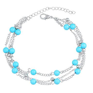 ieftine Bijuterii de Corp-Brățară Gleznă femei Boho Boem Pentru femei Bijuterii de corp Pentru Cadou Bikini stivuibil Turcoaz Aliaj Auriu Argintiu 1 buc