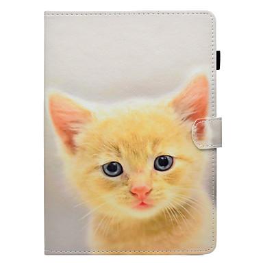 رخيصةأون أغطية أيباد-غطاء من أجل Apple iPad New Air (2019) / iPad Air / iPad 4/3/2 حامل البطاقات / مع حامل / قلب غطاء كامل للجسم قطة قاسي جلد PU / iPad Pro 10.5 / iPad (2017)