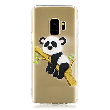 voordelige Galaxy S-serie hoesjes / covers-hoesje Voor Samsung Galaxy S9 / S9 Plus / S8 Plus Transparant / Patroon Achterkant Panda Zacht TPU