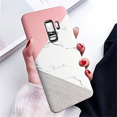 Недорогие Чехлы и кейсы для Galaxy S-Кейс для Назначение SSamsung Galaxy S9 / S9 Plus IMD Кейс на заднюю панель Мрамор Твердый ПК