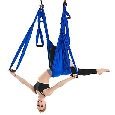baratos Faixas para Fitness-Balanço Para Aero Yoga Tecido Para Aero Yoga Rede Para Yoga Colchão de Espuma Fibra de Nailom Náilon Anti-Gravidade Ultra Forte Terapia de Inversão Para Descompressão Aereo Yoga Exercícios de