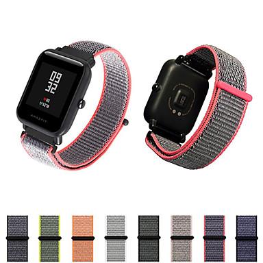 voordelige Smartwatch-accessoires-Horlogeband voor Huami Amazfit Bip Younth Watch Xiaomi Moderne gesp Nylon Polsband