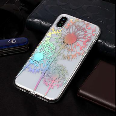 voordelige iPhone X hoesjes-hoesje Voor Apple iPhone X / iPhone 8 Plus / iPhone 8 IMD / Patroon Achterkant Paardebloem / Bloem Zacht TPU