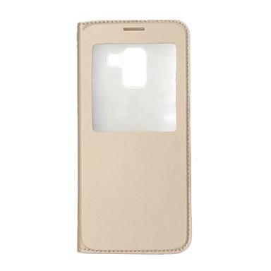 Недорогие Чехлы и кейсы для Galaxy А-Кейс для Назначение SSamsung Galaxy A8 2018 / A8+ 2018 со стендом / с окошком / Флип Чехол Однотонный Твердый Кожа PU