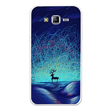 voordelige Galaxy J-serie hoesjes / covers-hoesje Voor Samsung Galaxy J7 (2017) / J7 (2016) / J7 Patroon Achterkant dier / Cartoon / Kleurgradatie Zacht TPU